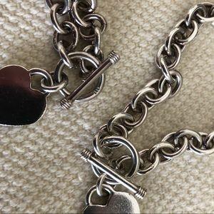 Jewelry - Heart charm toggle necklace & bracelet